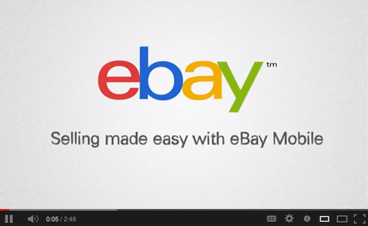 Selling made easy with eBay mobile video